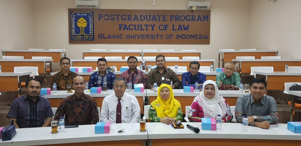 Fakultas Hukum UIR Dalami Tata Kelola Prodi Doktor ke UII Yogya</a>